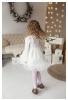Balta suknelė mergaitėms su tiuliniu sijonuku